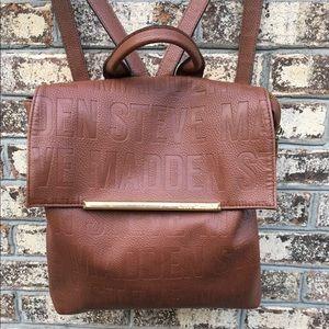 Steve Madden Bfrida Embossed Cognac Backpack Bag